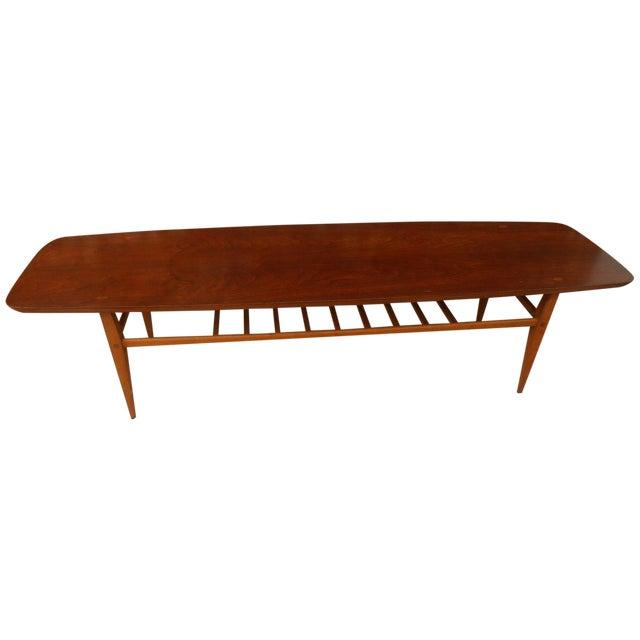 Mid-Century Danish Modern Lane Surfboard Table - Image 1 of 6