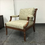 Image of Custom White And Grey Armchair