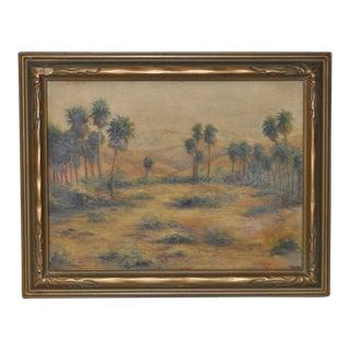 California Desert Landscape Oil Painting by G. Held