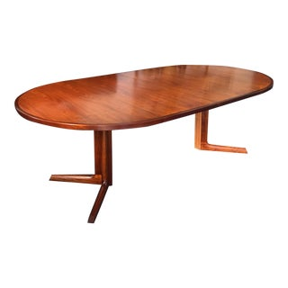 Danish Teak & Walnut Dining Table