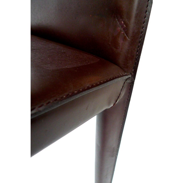 Bellini-Style Leather Side Chairs - A Pair - Image 7 of 9