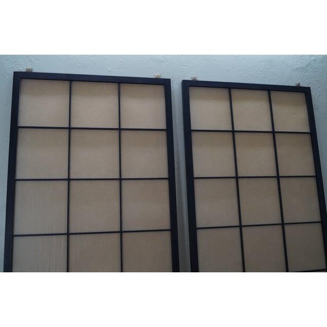 Vintage Japanese Shoji Sliding Doors - A Pair - Image 4 of 10