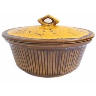 California Pottery Drip Glaze Ceramic Baking Dish