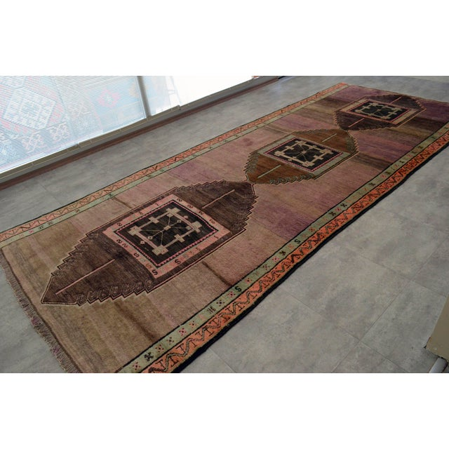 Hand Knotted Turkish Kars Rug - 5′9″ × 13′11″ - Image 4 of 11