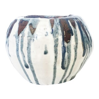 Vintage Medium Drip Glaze Studio Pottery Planter