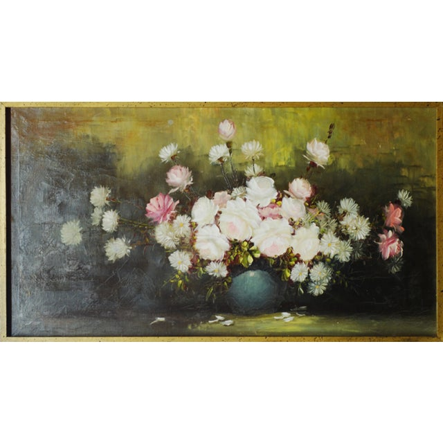 Vintage Floral Oil Painting by Henri-Roidot - Image 1 of 3