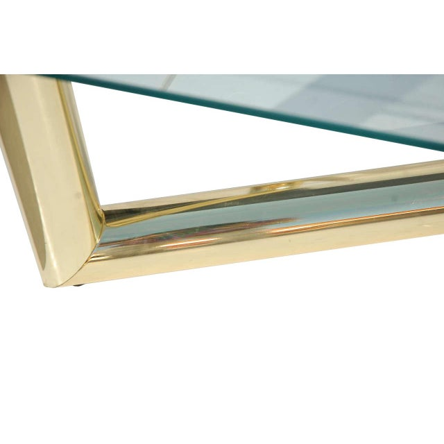 Pace Style Brass Tubular Coffee Table - Image 2 of 5