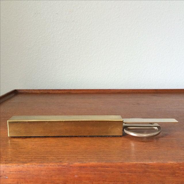 Vintage Brass Scissors and Letter Opener Set - Image 6 of 9