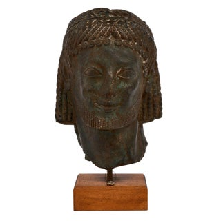 Vintage French Terra Cotta Etruscan Bust