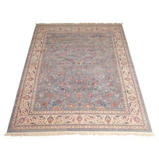 Vintage Indian Large Agra Carpet - 12′ × 15′