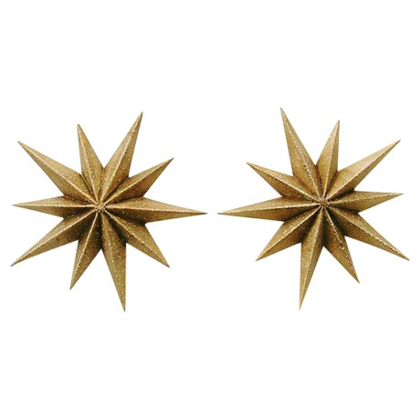 Image of Mid-Century Star Busrts Wall Sconces - Pair