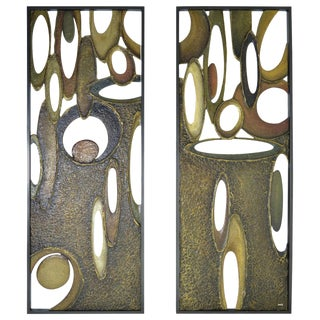 "Richard Boprae ""Rhythm"" Architectural Panels - A Pair"