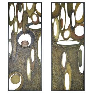 "Richard Boprae ""Rhythm"" Architectural Panels - A Pair"