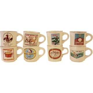 1970s Vintage Collectible Boy Scout Mugs - Set of 8