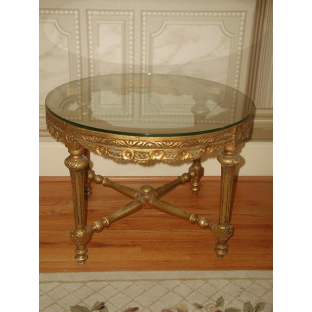 French 19th C. Hand Carved Gilt Coffee Table - Image 6 of 10