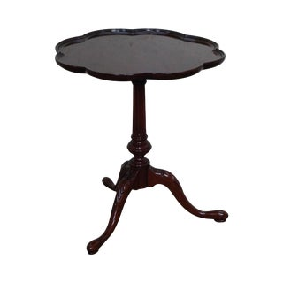 Councill Craftsman Mahogany Pie Crust Side Table