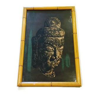 Mid Century Batik Buddha Zen Wall Art Hanging