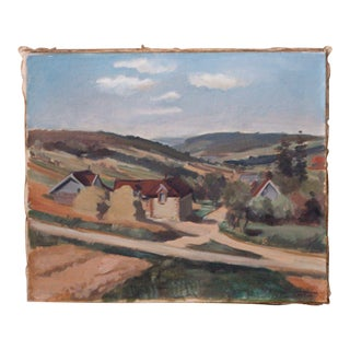 Country Village Landscape Painting