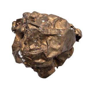 Clif Claycomb Bronze Crumpled Paper Sculpture