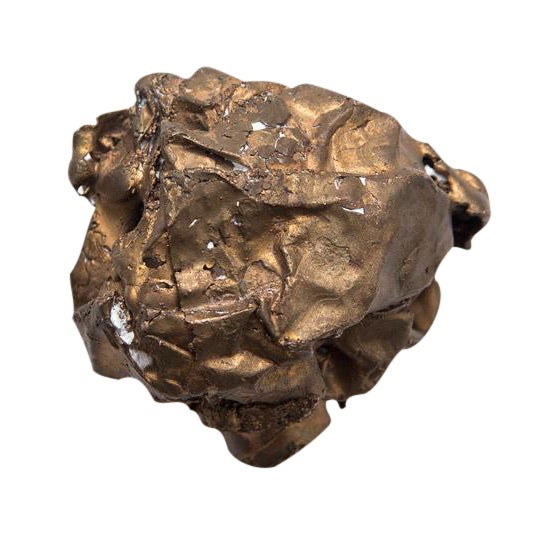 Clif Claycomb Bronze Crumpled Paper Sculpture - Image 1 of 3