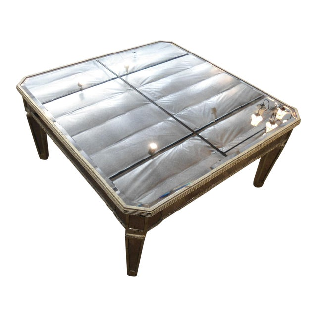 Horchow Amelie Mirrored Coffee Table Chairish