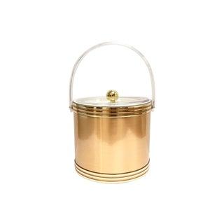 Georges Briard Mid-Century Gold Lucite Ice Bucket