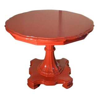 Post-1950's Vintage Round Side Entry Table