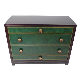 Tommi Parzinger Hand-Tooled Leather Cabinet