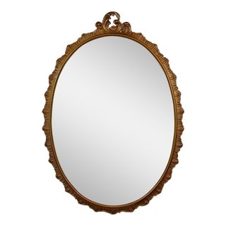 Vintage Carved Oval Mirror