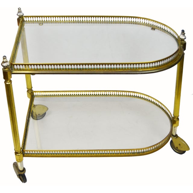 French 2 Tier Bar Cart - Image 1 of 3