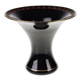Vintage Black Glass Vase