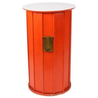 Orange Hexagonal Cabinet Side Table