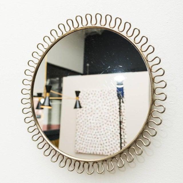 Sculptural Brass Loop Mirror by Josef Frank for Svenskt Tenn Sweden, 1950s - Image 2 of 5