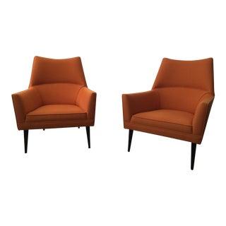 Paul McCobb Orange Squirm Chairs - a Pair