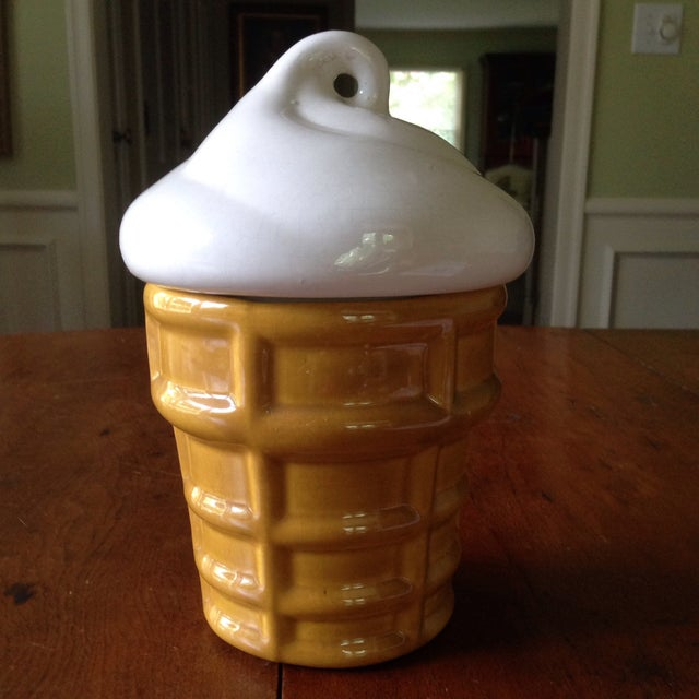 Vintage Ice Cream Cone Cookie Jar - Image 9 of 11