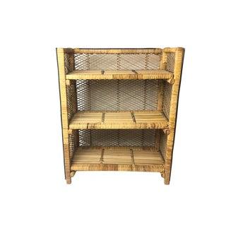 Vintage Folding Bamboo Shelf