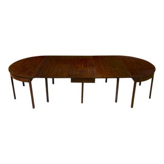 Chippendale 3-Part Mahogany Banquet Table