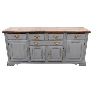 Nathan Hale Knotty Pine Credenza