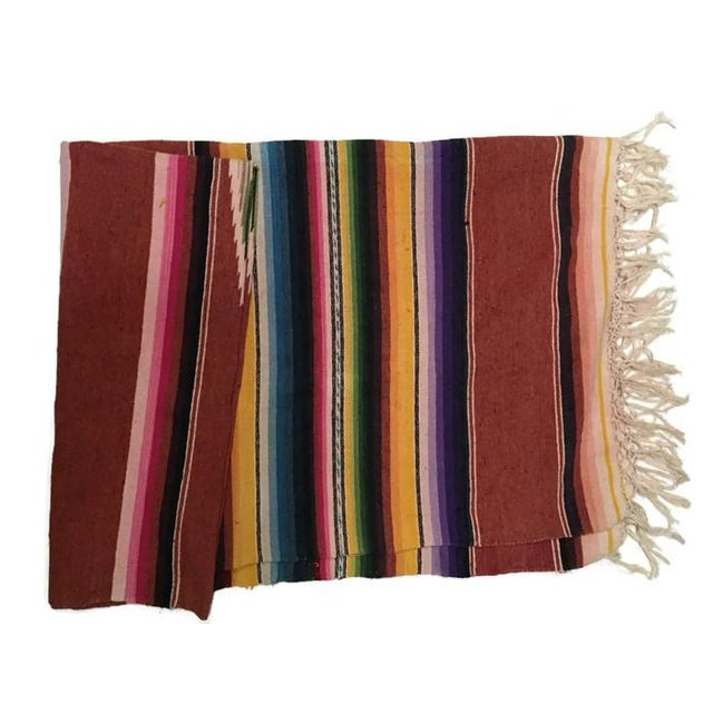 Image of Vintage Saltillo Mexican Blanket Southwest Throw