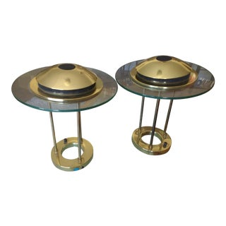 Vintage Sonneman Kovacs Saturn Desk Lamp - A Pair