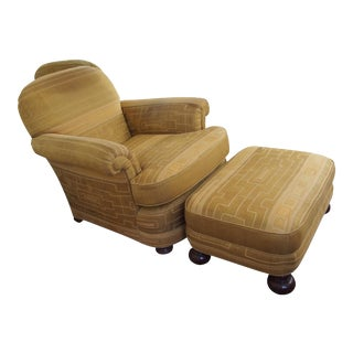 1940s Donghia Fabric Chair & Ottoman