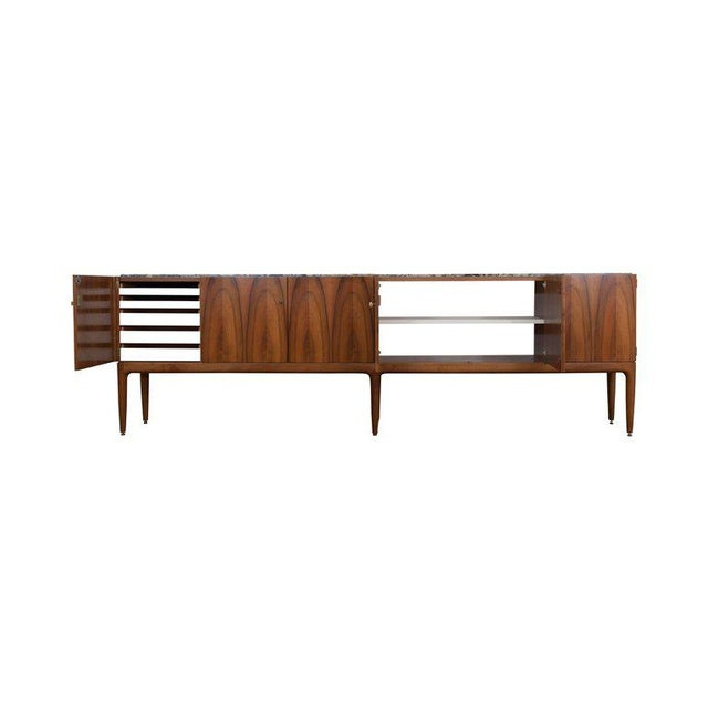 Walnut and Marble Credenza by Jos De Mey - Image 7 of 11