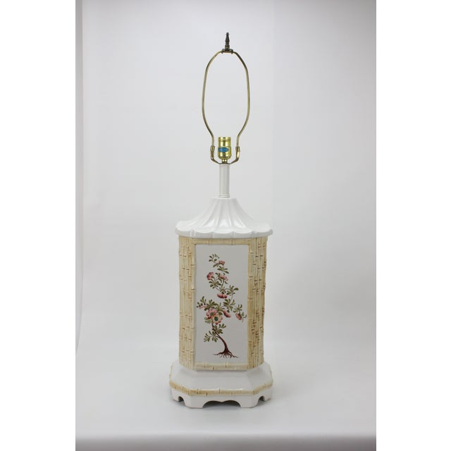 Mid-Century Ceramic Chinoiserie Lamp - Image 3 of 5
