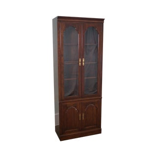 Kling Georgian Court Solid Cherry Glass Door Bookcase Curio Cabinet