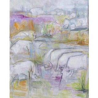 "Large Abstract Oil Painting by Trixie Pitts ""The Herd"""