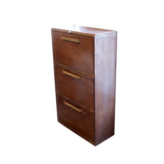 Faux Wood Metal File Cabinet