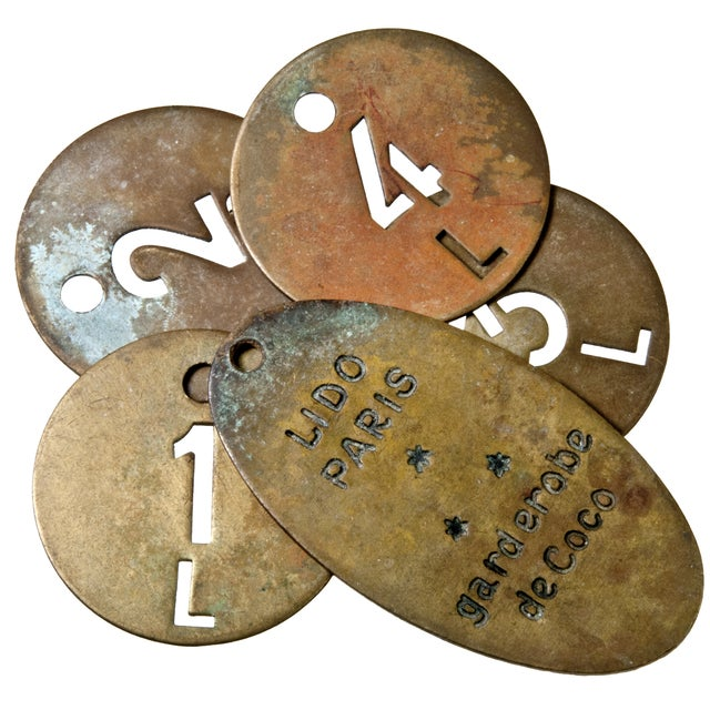 Le Lido Paris Brass Coat Check Tags- Set of 50 - Image 3 of 5