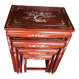 Vintage Chinese Rosewood Nesting Tables - Set of 4
