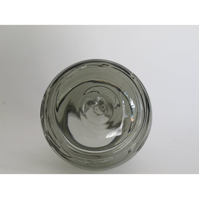 Blown Smoky Glass Vase with Applied Decoration - Image 4 of 4
