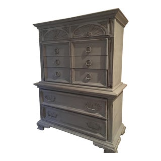 Vintage Distressed Gray Dresser